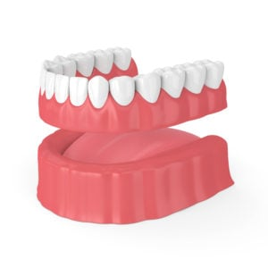 removable full denture lower jaw