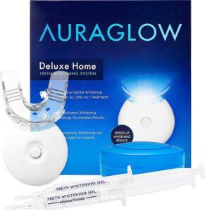 AuraGlow Teeth Whitening Kit, LED Light