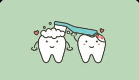 brushing teeth cartoon