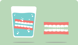 soaking dentures
