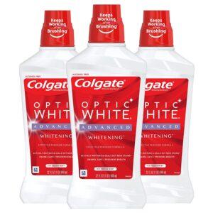 Colgate Optic White Alcohol Free Whitening Mouthwash 2 Hydrogen Peroxide